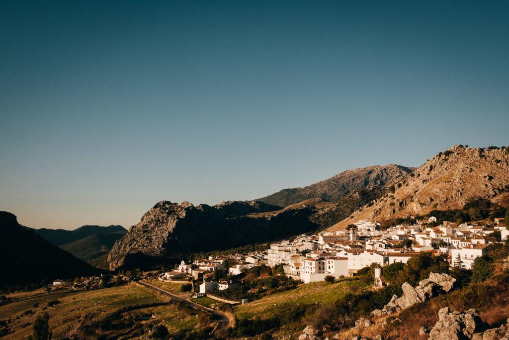 Blick auf die Sierra de Grazalema im andalusischen Benacoaz