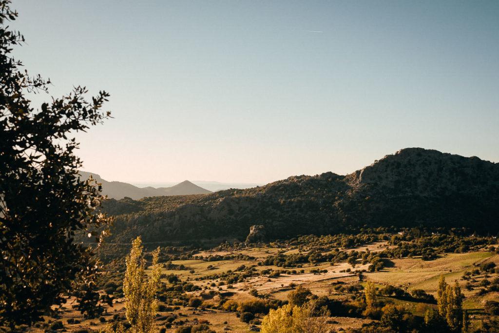 Wundervolle Landschaft der Sierra de Grazalema in Andalusien.
