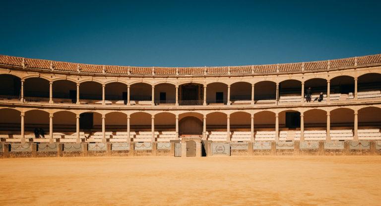 Stierkampfarena in Ronda, Andalusien.