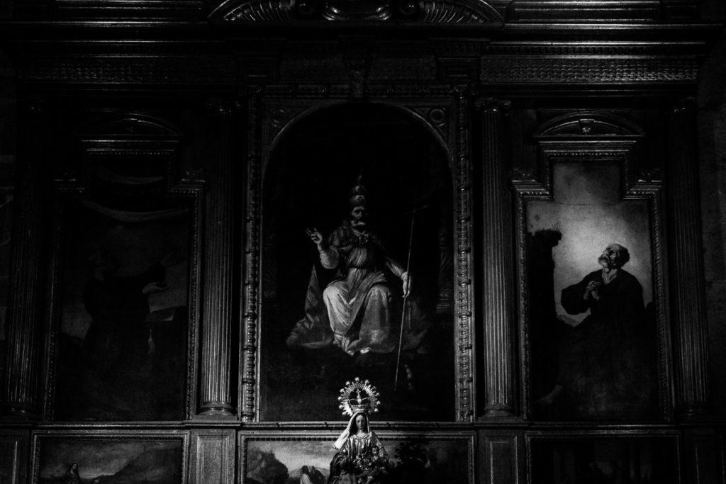 Altar in er Kathedrale von Sevilla.