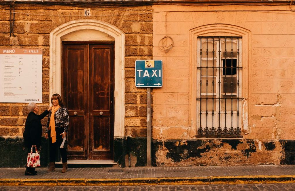 Taxistand in Cádiz.