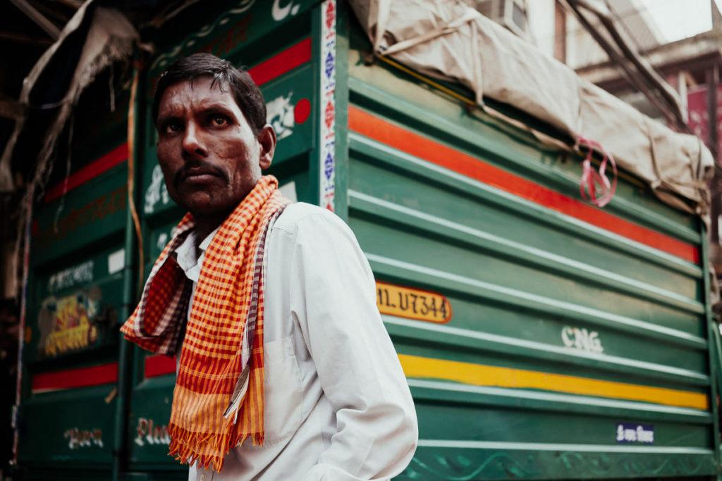 Straße in Old Delhi