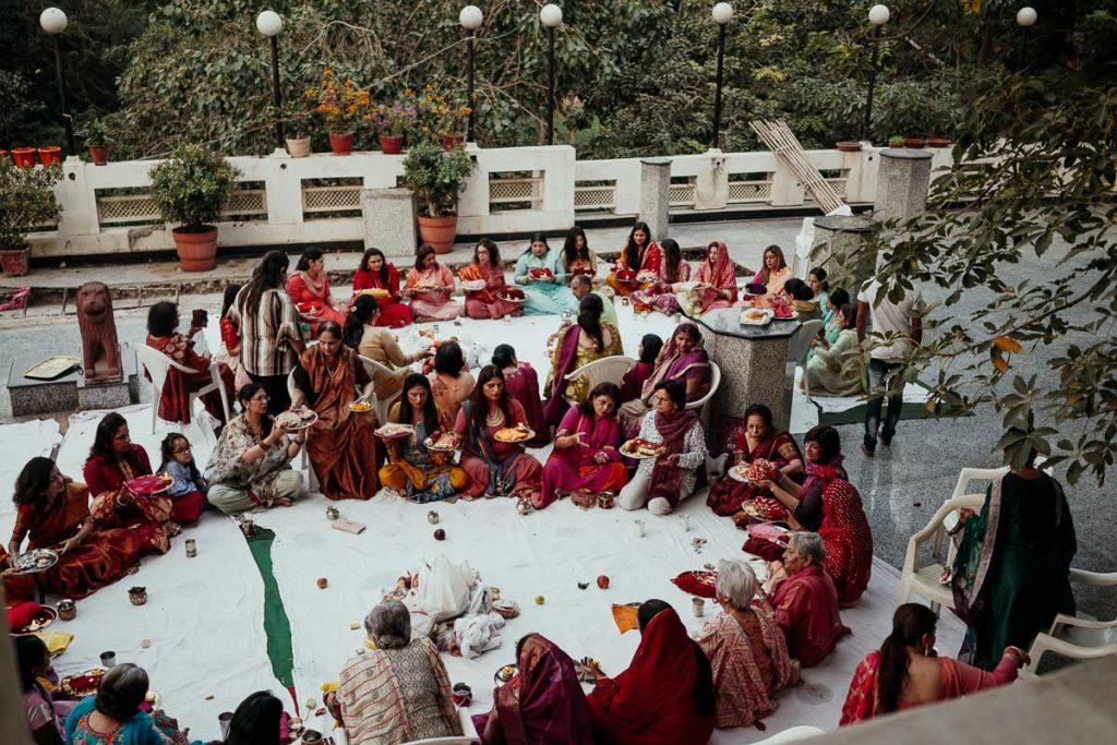 Karva Chauth in New Delhi, New Friends Colony