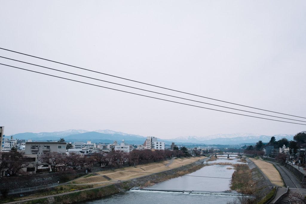 Sai River in Kanazawa.