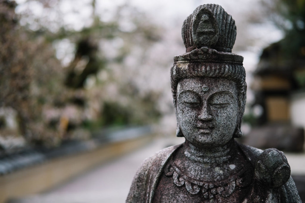 Statue am Tempel in Kyoto