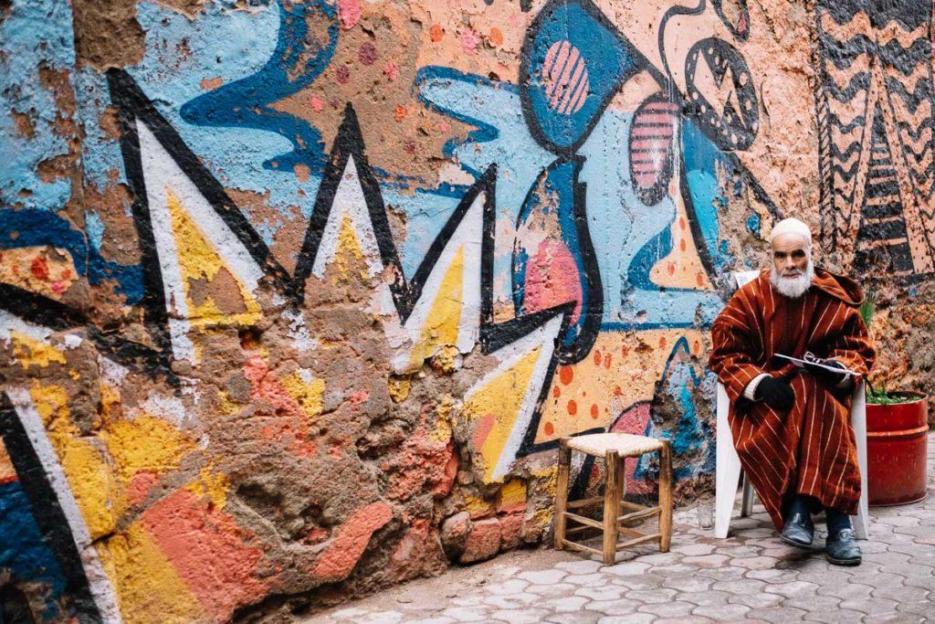Grafitti in Marrakesch.