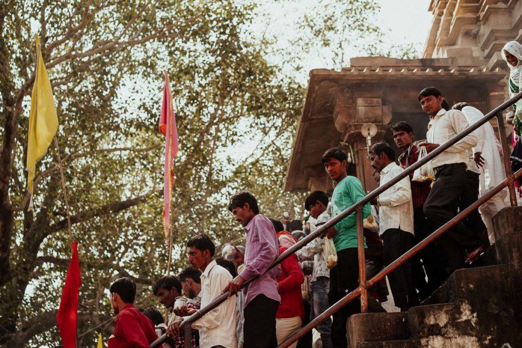 Tempelbesuch in Khajuraho zu Diwali