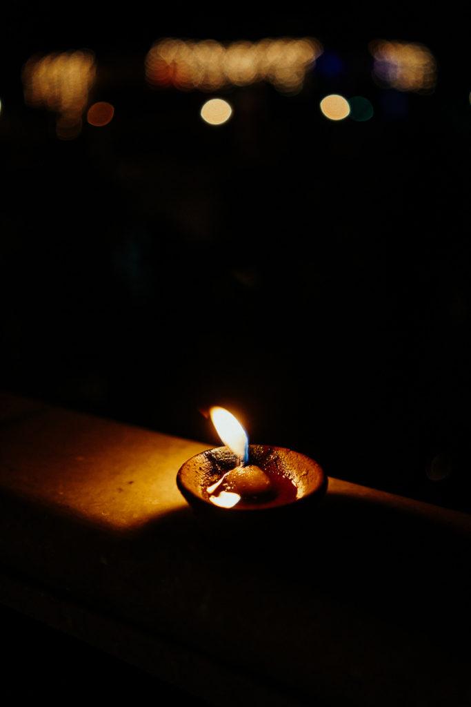 Diya zu Diwali, das Lichterfest in Indien.