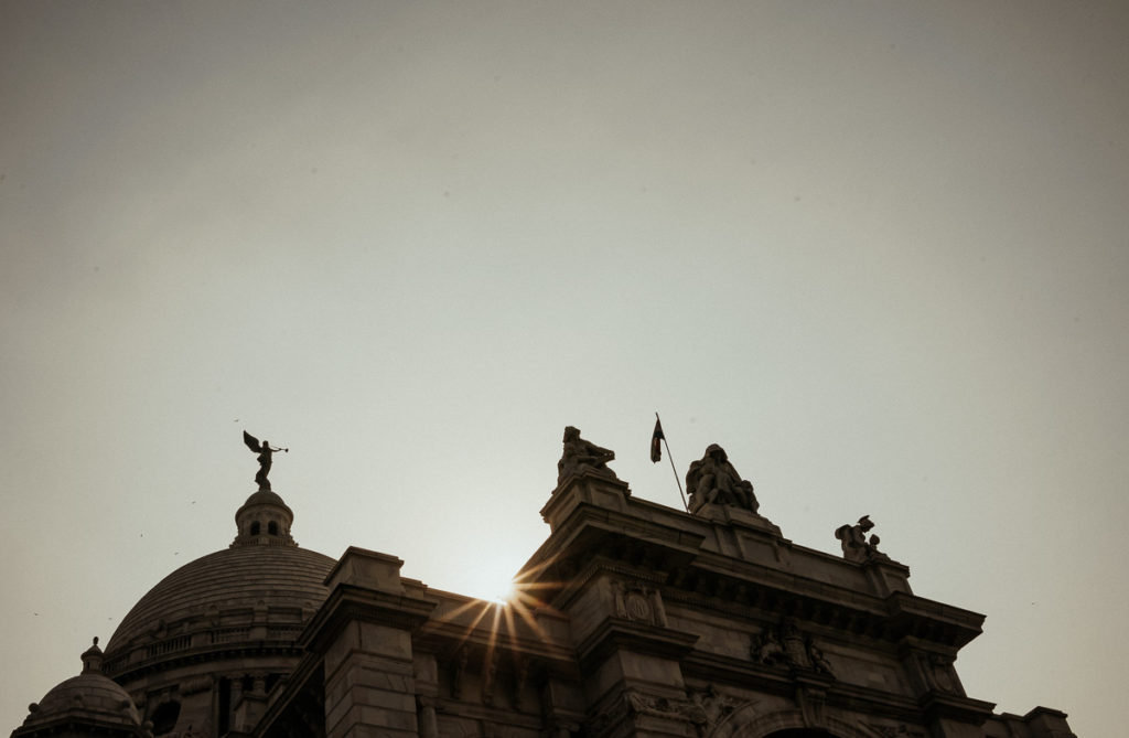 Sightseeing in Kolkata: Victoria Monument und Victoria Park.