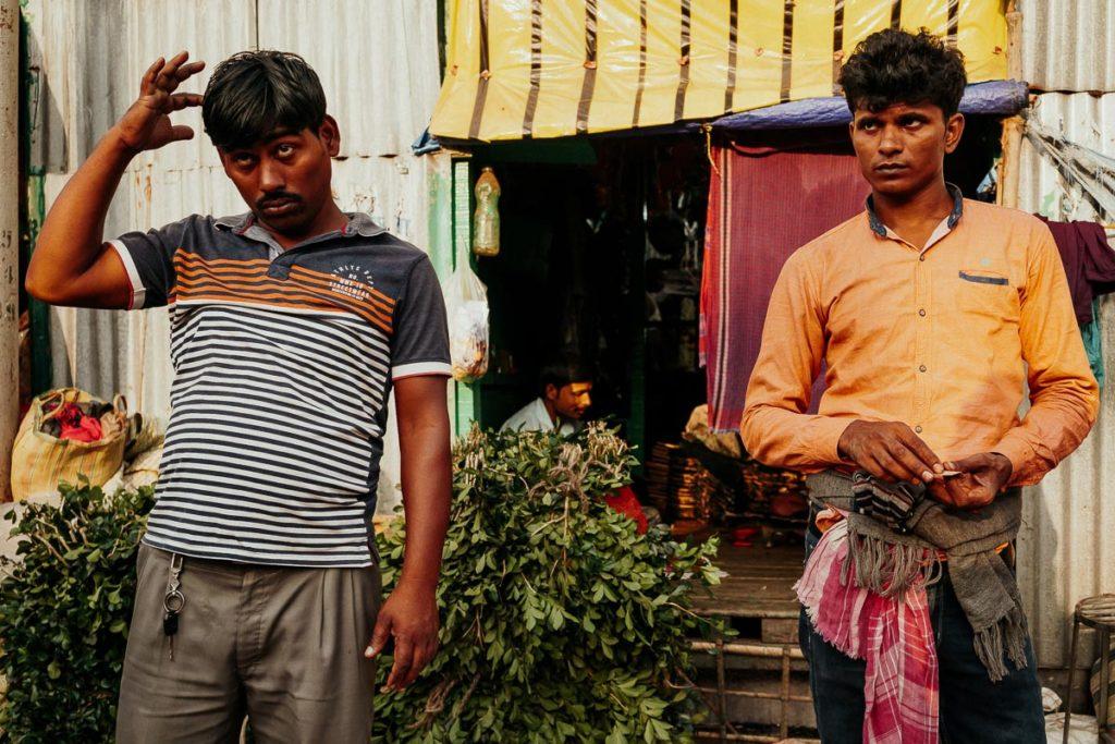 Verkäufer auf dem Flower Market in Kolkata.