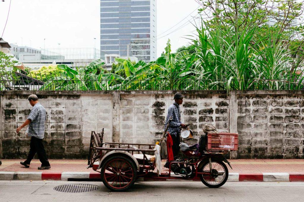 Traditionelle Rikscha im Viertel Ari in Bangkok