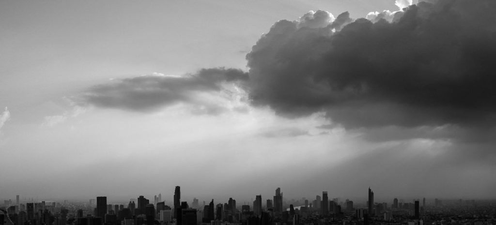 Bangkok Skyline, fotografiert vom Baiyoke Tower 2