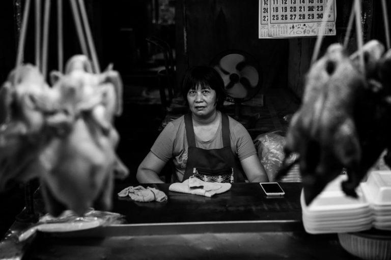 Typischer Snackstand in Bangkoks Chinatown