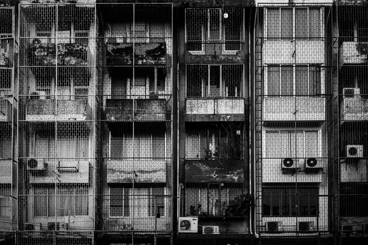 Hauswand in Talat Noi, Bangkok