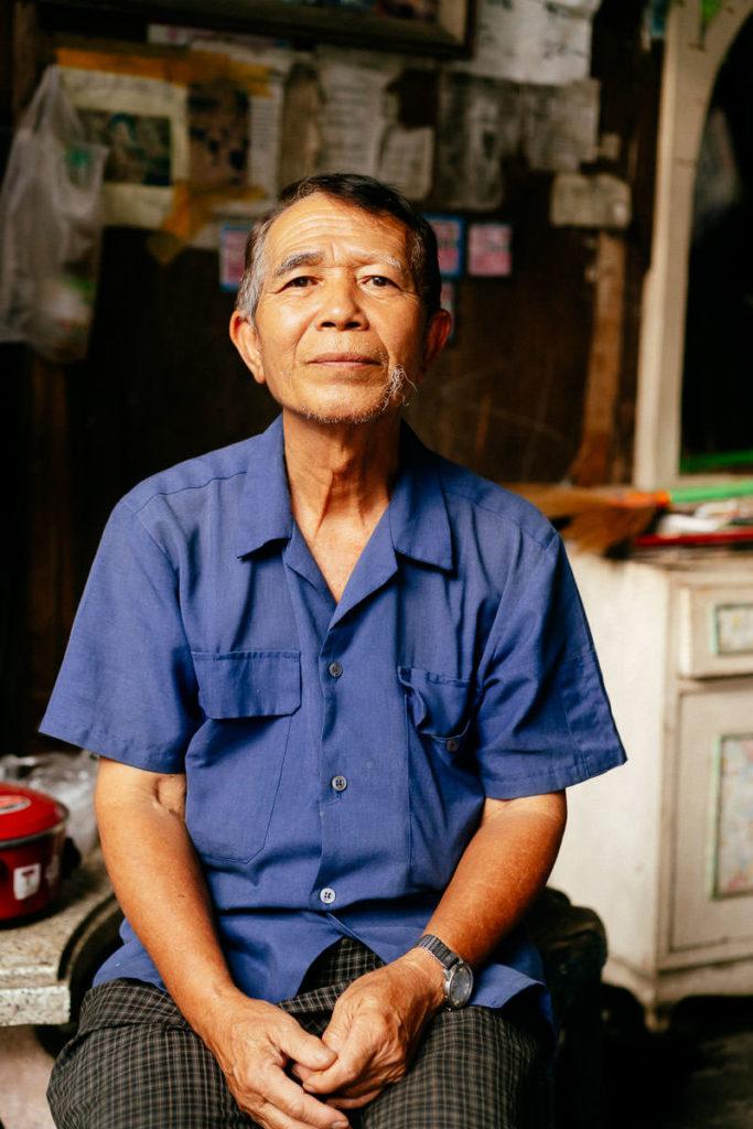 Porträt eines Mannes in Chiang Mai